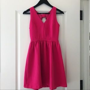 Soprano Pink Bow Back Party Dress, XS